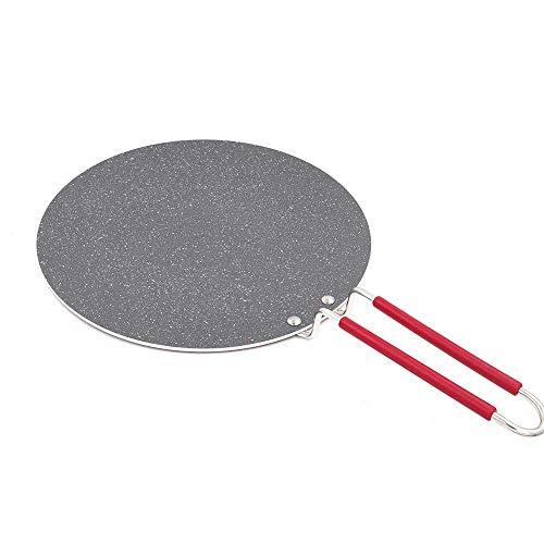 Antihaft-Pfanne Star Flat Crepe Bratpfanne Ideal für Indien Chapatis Pancakes Große Pfanne Brot Gaskocher Bratpfanne für Home Picknick Weiß