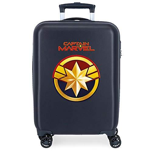 Marvel Los Vengadores All Avengers Maleta de Cabina Azul 37x55x20 cms Rígida ABS Cierre combinación 34L 2,6Kgs 4 Ruedas Dobles Equipaje de Mano