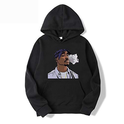 Harajuku Sweatshirt Tupac 2Pac Hoodie Herren Hoodies Damen Streetwear Pink Hoodies Hip Hop Kleidung für Mädchen Winter Pullover Hoody