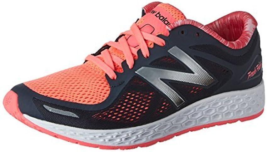 シフトアンデス山脈ピットNew Balance Women's Fresh Foam Zante v2 Running Shoe Black/Pink 5 D US [並行輸入品]
