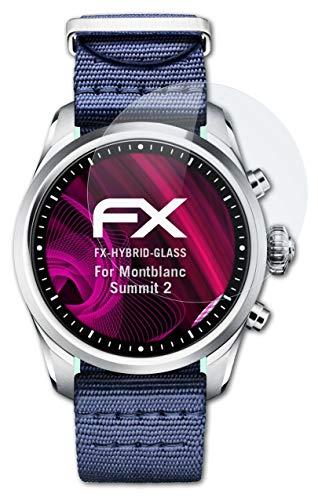 atFoliX Glasfolie kompatibel mit Montblanc Summit 2 Panzerfolie, 9H Hybrid-Glass FX Schutzpanzer Folie