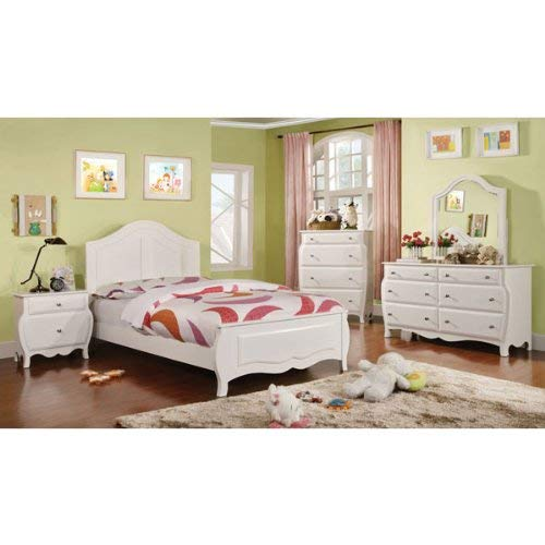 247SHOPATHOME Youth bedroom set, Full, White