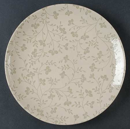 Sango Fresh Flowers-Gray Dinner Plate, Fine China Dinnerware