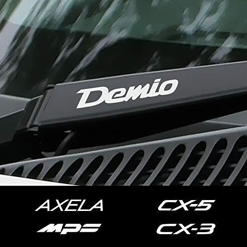 FSXTLLL 4 STÜCKE Autofensterwischer Aufkleber Reflektierende Aufkleber, Für Mazda Demio CX 5 CX 3 3 6 Axela Atenza MS MPS