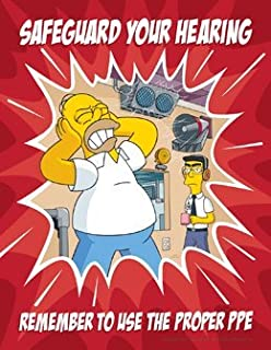 Simpsons Hearing Protection Safety Poster - Safeguard Your Hearing