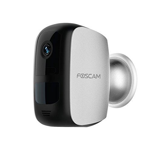Foscam 1080P Cámara B1 WiFi Vigilancia (Batería Recargable), GRABACIÓN EN LA Nube Gratis, Detección Movimiento con PIR, visión Nocturna, Compatible iOS y Android. 1080P,Ampliación Kit E1