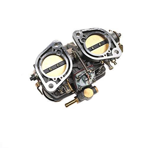 GYYY Carburatore 44 IDF per VW Volkswagen Beetle Super Beetle Transporter Jaguar Porsche Weber 2 Barrel 44mm con Air Horn 18990.030