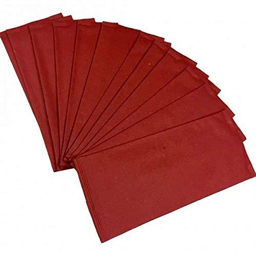 ASTOR pZ 125enveloppe Couverts Couleur Rouge Bordeaux en Papier Paille 10x 25+ Serviette 40x...