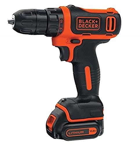 Black & Decker BDCDD12K1-QW - Taladro (Taladro de pistola, perforacion, Desatornillar, 550 RPM, 2,5 cm, 1 cm)