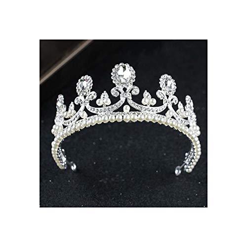 Beauty Bruids Tiaras Witte Parel Kristal Bruids Tiaras En Kroon Prinses Bruid Bruid Haarbanden Hoofdstuk Zoals laten zien