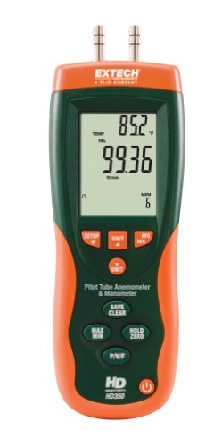Extech HD350 Pitot Tube Anemommeter and Differential Manometer