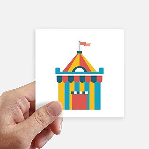 DIYthinker Funny Park Incroyable Tente Illustration Autocollant carré de 10 cm Mur Valise pour Ordinateur Portable Motobike Decal 8Pcs 10cm x 10cm Multicolor