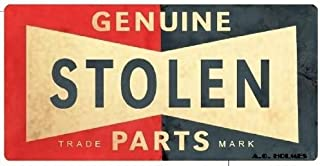 2pcs Genuine Stolen Parts #4 OLDSCHOOL hot rod Rat piss Gangster youngster MOB Rockabilly 1950s Round Bumper Sticker Decal (4 Inch) DECAL Sticker of street sign design