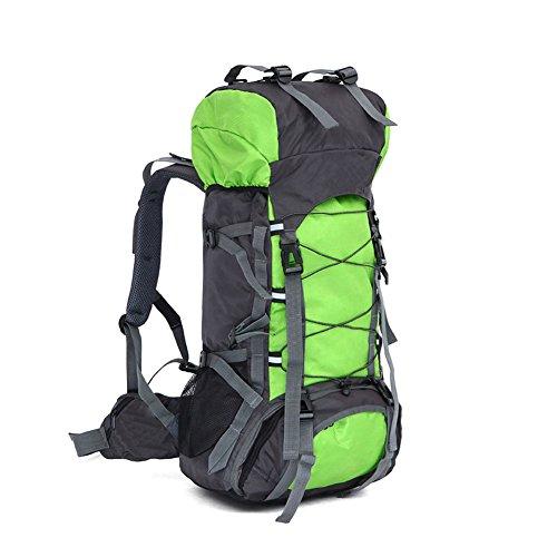 Lokep Sac à dos de randonnée étanche avec structure interne 60L Unisexe Grand format moyen vert gazon