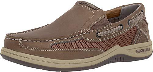 Margaritaville Men's Anchor Slip On Boat Shoe, Brown, 10.5 Wide US