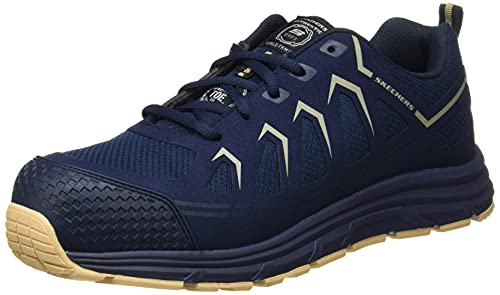 Skechers Malad, Zapato Industrial Hombre, Multicolor (NVTN Black Textile/Synthetic), 42 EU ✅