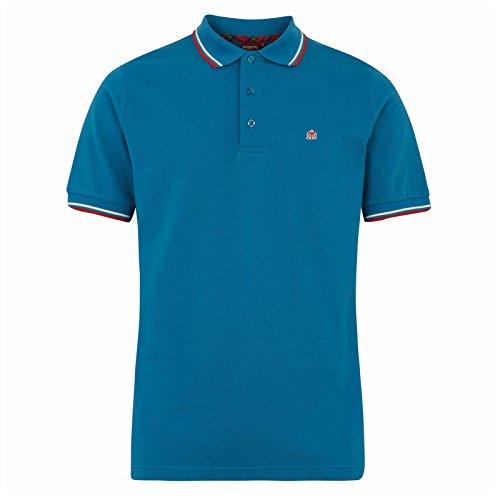 Merc Of London - Polo Pour Homme Couleur Unie - Bleu, L