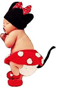 SAMGU Bebé Disfraz de Ganchillo para Recién Nacido Unisex Accesorios de Fotografia Foto Conjuntos Sombrero Gorro de Punto + Pantalones Disfraz Ropa de Traje
