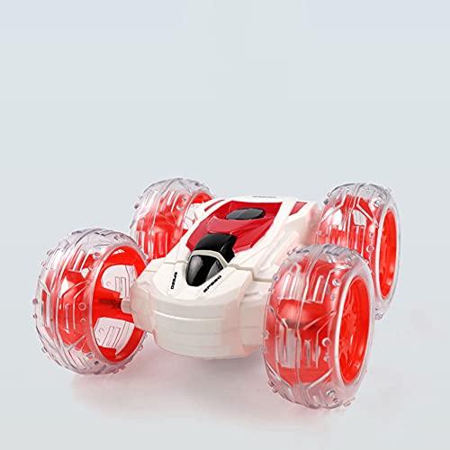 TTKD Coche de control remoto inalámbrico para niños Coche de seis ruedas con volcadura con iluminación fresca Coche de juguete giratorio para acrobacias de 360 ° Niños y adultos Regalo de cumpleaños
