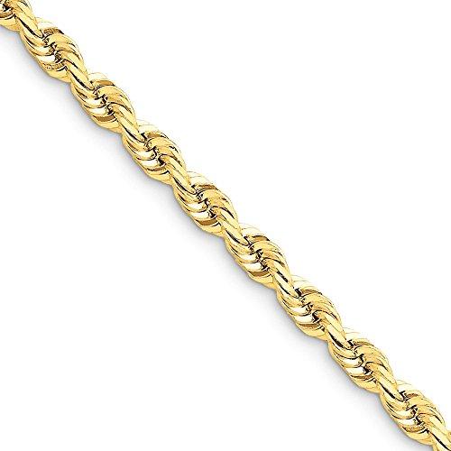 Diamond2deal - Tobillera de Oro Amarillo de 14 Quilates DE 5,5 mm