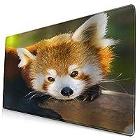 KIMDFACE 大型 マウスパッド アライグマかわいい動物の野生動物 個性的 おしゃれ 柔軟 かわいい ゲーミングマウスパッド PC ノートパソコン オフィス用 デスクマット 滑り止め 特大 マウスマット