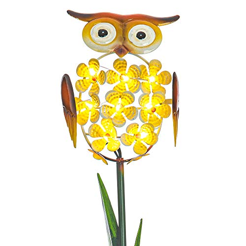 FiNeWaY Solar Animal with 8 Warm White LED Garden Decorative Stake Light Lamp - Garden Decoration – Ideal for Flower Bed, Patio, Decking – Waterproof