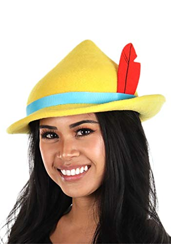 Disney Pinocchio Costume Hat for Adults and Kids Yellow