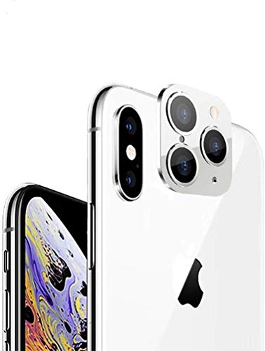 LUZWE® Camera Lens Protector Compatible for iPhone X/XS/XS Max to iPhone 11 Pro/11 Pro Max Converter; Back Camera Lens Protective Cover(Silver)
