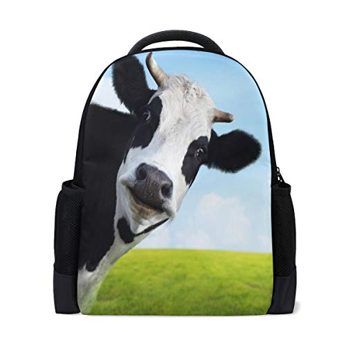 ALAZA Cow Animal Casual Backpack Waterproof Travel Daypack Children School Bag