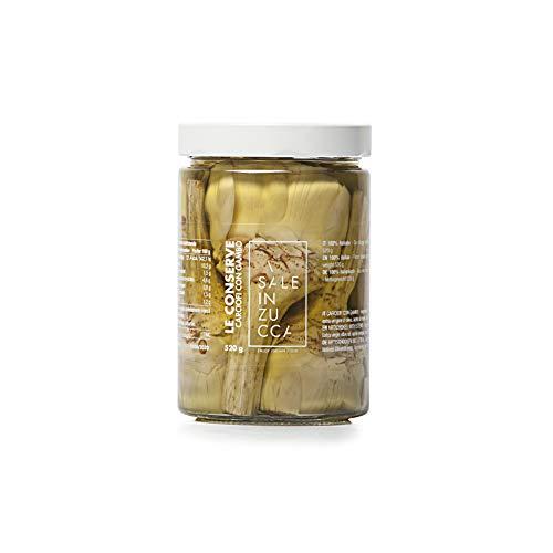 Sale In Zucca - CARCIOFI CON GAMBO 520g - 3 VASI da 520g - Le Conserve - Prodotti Tipici Pugliesi (3)
