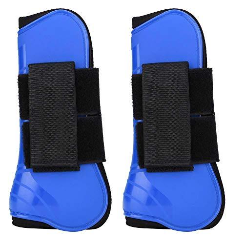 Pssopp Stivale per Gamba di Cavallo, Protezione per Il Salto del Cavallo Stivale Supporto per Cavalli Stivali avvolgenti Equipaggiamento equestre(Blu)