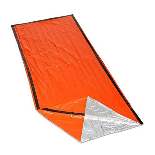 duoyouduo Notfallschlafsack OUTAD Thermoreflektierend Survival Bag orange