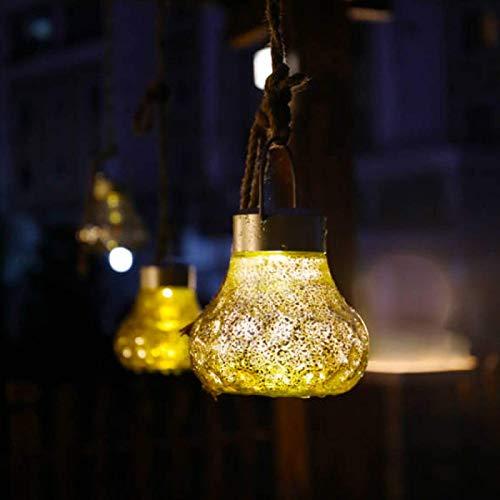 ZBK Solar Silver Pattern Creative Portable Light,Outdoor Mobile Waterproof Smart Light-Controlled Glass Ball Decorative Lamp(1 Pack)