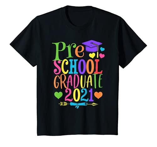 Niños Clase de 2021 Divertido Graduado Preescolar Pre-K Camiseta