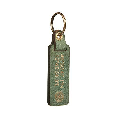 Personalisierter Schlüsselanhänger aus Leder mit beidseitiger Gravur (Text Koordinaten Intialen) - Premium - Individuelles Geschenk Männer und Frauen