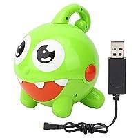 おもちゃの子供のためのUsb操作屋外泡吹くおもちゃ、泡吹くおもちゃ、超かわいい電気泡吹く機械(緑)