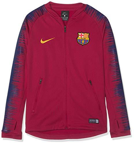 Nike FC Barcelona Anthem Football Jacket, Giacca della Tuta Unisex Bambini, Noble Red/University Gold, XL