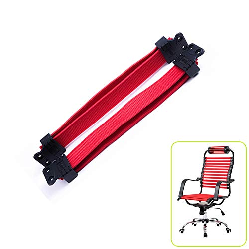 RNY Elastic Rope Rubber Band for Bungies Office Chair,Flat Elastic Bungie Straps for Repair Bungee Office Task Chair (Double Layer, Red)