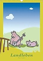 Landleben - lustige Tierzeichnungen (Wandkalender 2022 DIN A3 hoch): Lustig gezeichnete Tiere vom Bauernhof bringen Sie zum Laecheln. (Monatskalender, 14 Seiten )