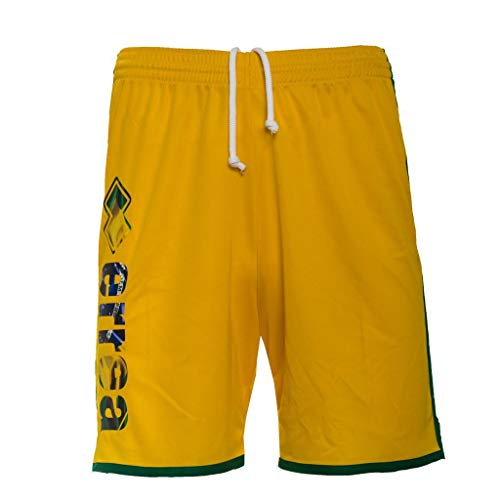 Erreà Republic Essential SS18 Man Flag Shorts, Herren, 11900 Giallo - Brasil, XXL