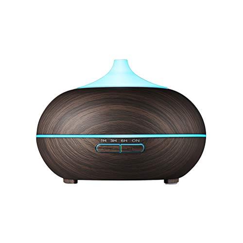 VORCOOL Difusor de aromaterapia de Madera 300 ML en Forma de lágrima difusor de Aceite Esencial humidificador ultrasónico para el hogar con Enchufe de la UE (Negro)