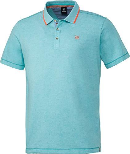 LERROS Herrenpolo in Melange-Optik, Poloshirt aus 100% Baumwolle, modernes Basic T-Shirt, lässiges Shirt, sportliche Herrenbekleidung, Gr. M - 3XL