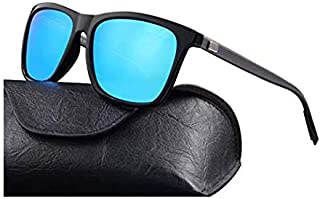 Carls Louison Polarized Men Women Aluminium Wayfarer Sunglasses (Gun Blue)