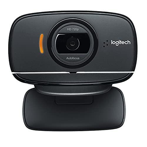 Logitech C525 Portable HD Webcam con enfoque automático rápido y diseño giratorio de 360 grados - Negro