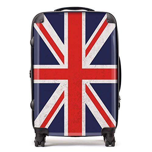Union Jack/British Flag Suitcase with TSA Lock 4 Spinner Wheels Luggage 68cm 80Ltr / North European Flags