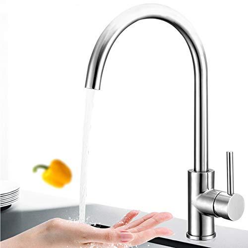 Hausbath Wasserhahn Küche Armatur Spültischbatterie Mischbatterien für Küche Spülbecken Spültischarmatur 360° Drehbar Küchenarmatur schwenkbar