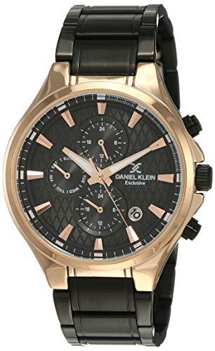 Daniel Klein Analog Black Dial Men's Watch-DK12133-5