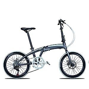 41nwFoC55gS. SS300 MENG Bici Pieghevole per Adulti, Mountain Bike Premium - Telaio in Lega Bicicletta per Ragazzi, Ragazze, Uomini e Donne - 20 Pollici,B,20 Pollici
