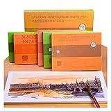 WDFDZSW 20 Livres aquarelles Peints à la Main sur Papier Aquarelle de Coton Pur, utilisé pour Tous...