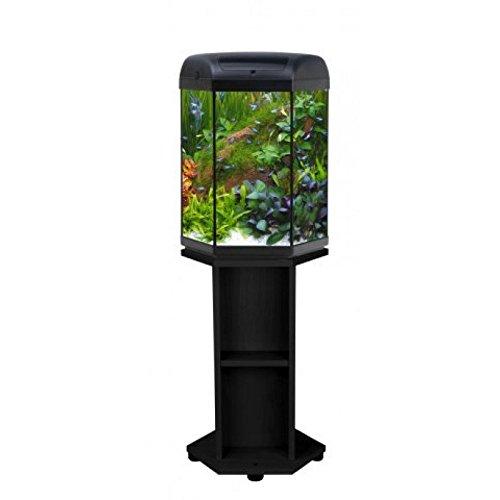 AQUAEL Hexa Set 60 Sechseckiges Aquarium 60 L LED-Licht Zubehör Tisch Süßwasser